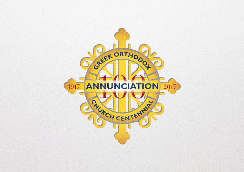 Annunciation Greek Orthodox Church Centennail Logo