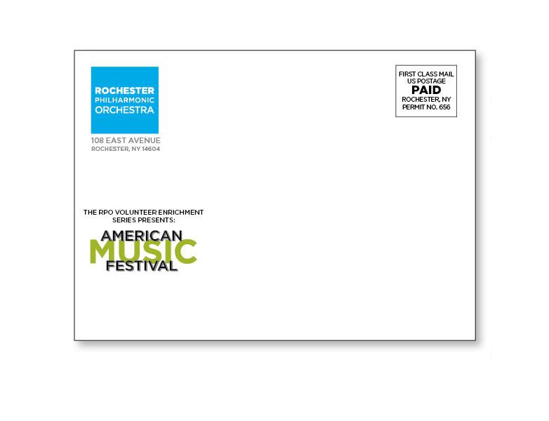 RPO American Music Festival Invitation Envelope